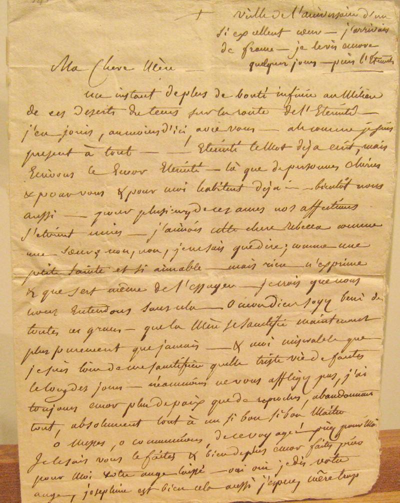 Letter of Brute to Elizabeth Ann Seton