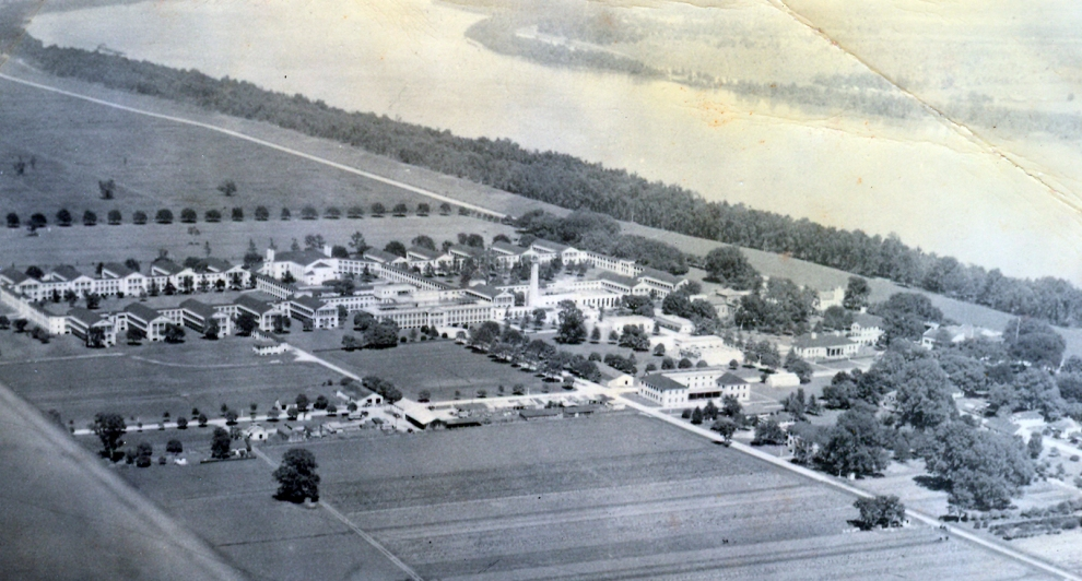 Carville aerial view