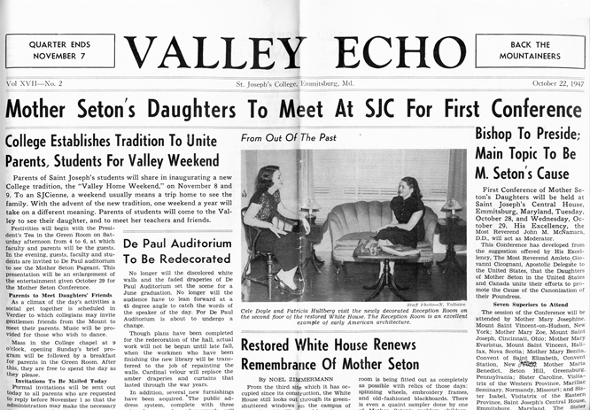 St. Joseph's College newspaper October 22, 1947