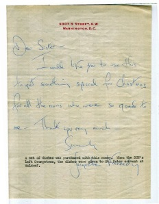 Jackie Kennedy letter