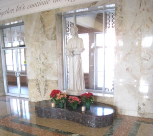 Mother Seton and Poinsettias