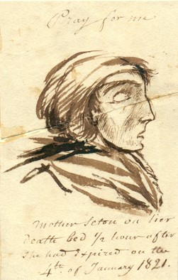 Sketch of Elizabeth Ann Seton