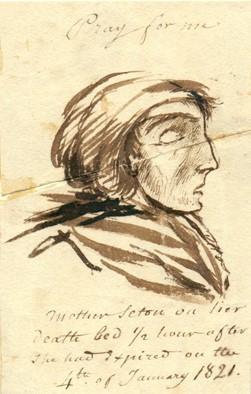 Sketch of Elizabeth Ann Seton