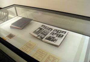 Case showing yearbooks from Gwynedd Mercy Academy