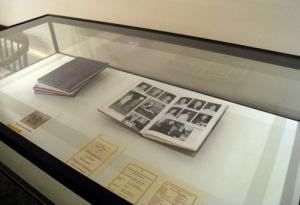 Case showing yearbooks from Gwynedd Mercy Academy