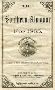 Southern Almanac 1865