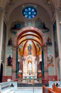 Miraculous Medal Shrine, Chapel of the Immaculate Conception, Philadelphia (courtesy Central Association of the Miraculous Medal)