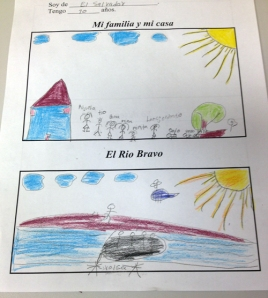 Drawing by a child from El Salvador (courtesy of Sister Mary Ellen Lacy)