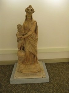 Our Lady of Victory, newly restored, on permanent display in the Provincial Archives