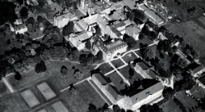 Aerial view of the former Central House and St. Joseph's College