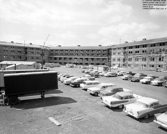 Provincial House under construction, May 1963
