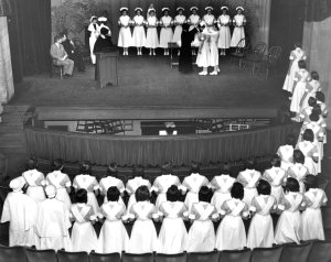 School of Nursing capping ceremony, Pittsburgh (courtesy Sisters of Charity of Seton Hill)