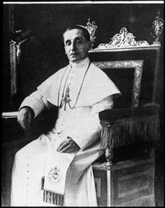 Pope Benedict XV, with whom the Sisters had a private audience.