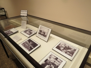 """Digital images on display in """"Over There"""" (used with permission of the Provincial Archives)"""