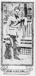 Charles Holden, as pictured in the Brooklyn Daily Eagle, November 3, 1918 (courtesy Brooklyn Daily Eagle)