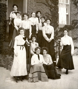 Group of St. Joseph's Academy students, 1900 (Photo by William H. Tipton)