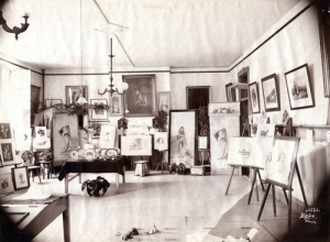 Art classroom at St. Joseph's Academy (photo by William H. Tipton)