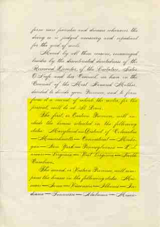 Fiat letter to province 1910-2 highlighted